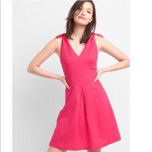 Gap Neón Pink Linen Dress